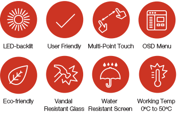 NEXPRO feature icons - Touch Screens Melbourne
