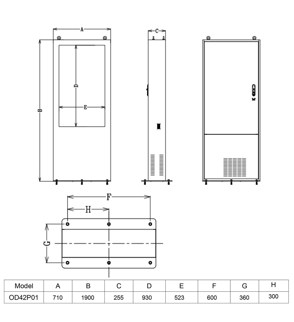 Outdoor42-Kiosk-dimensions