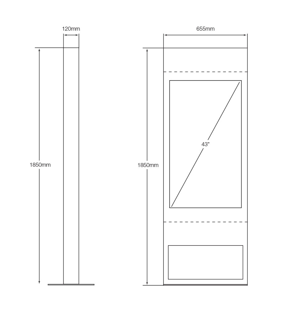 OutdoorKWO43-Kiosk-dimensions